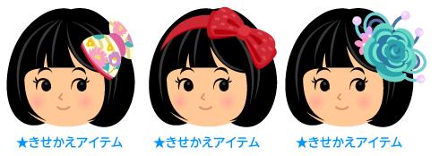 リボン髪飾り椿赤紫・リボンカチューシャ赤・大輪の花髪飾り青緑
