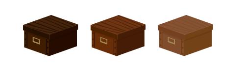 ストックボックス木目濃・ストックボックス木目・ストックボックス木目薄