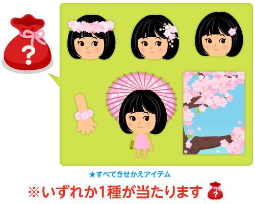 服袋桜の花冠