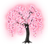 光るしだれ桜