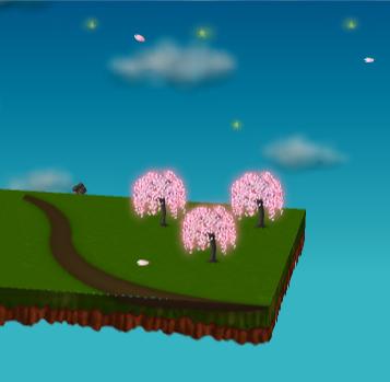 光るしだれ桜(夜)