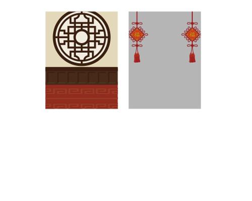 背景:工芸窓・福房飾りフレーム
