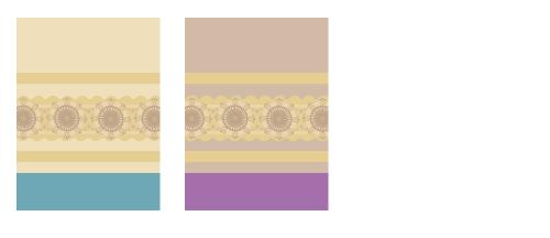 背景:アラベスク青・背景:アラベスク紫