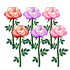 バラ グラデ 3種6本