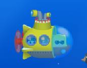 3人乗っている潜水艦