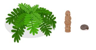 古代植物シダ小・はにわ兵士・アンモナイト化石黒小