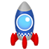 空飛ぶロケットC ブルー