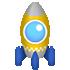 空飛ぶロケットC イエロー