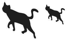 ウォールデコ黒猫大・ウォールデコ黒猫小