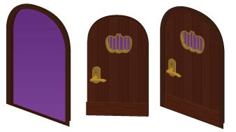 ドア枠ハロウィン・ドア扉ハロウィン開・ドア扉ハロウィン閉