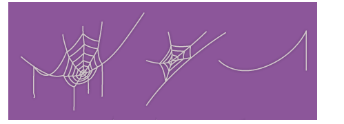 クモの巣七角大・クモの巣五角大・クモの糸大
