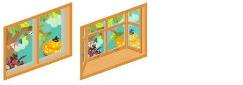 ハロウィンデイ小窓・ハロウィンデイ出窓