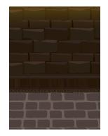 背景:魔法学校の廊下