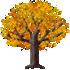 カエデの木B 橙
