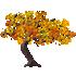 カエデの木C 橙 右向き