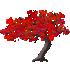 カエデの木C 赤 左向き