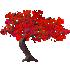 カエデの木C 赤 右向き