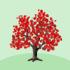 ちびカエデの木A 赤