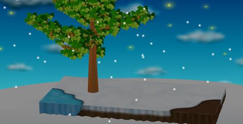 スノークリスマスシートで大地を有効にした庭