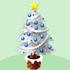 クリスマスツリーA 白