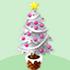 クリスマスツリーA 白×桃