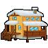 山小屋A 雪