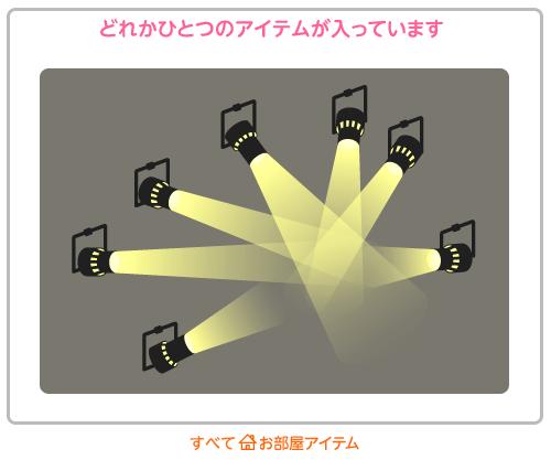 部屋袋スポットライト黄