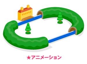 動く蒸気機関車レール