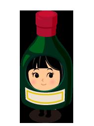 赤ワイン着ぐるみ