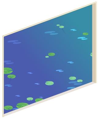 睡蓮の池の窓大Lv1