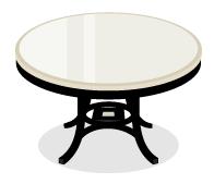 モノクロチェックテーブル