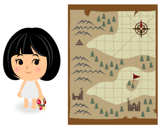 手持ち財宝・背景:宝の地図