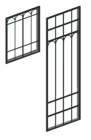 アリスの森窓ガラス小・アリスの森窓ガラス大