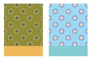 背景:水玉Wわすれな草・背景:水玉Wうぐいす