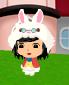 白ウサギの着ぐるみ着用例