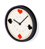 トランプ掛け時計