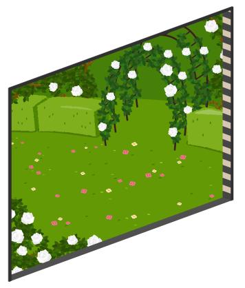 アリスのバラ園の窓大Lv1