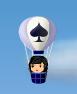 トランプマークの気球 スペード