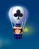 トランプマークの気球 クラブ