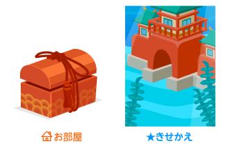 玉手箱朱塗り・背景:竜宮城
