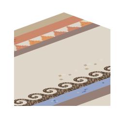 モザイクタイル床