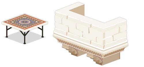 モザイクタイルテーブル・ジュリエットのバルコニー