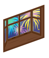 湖上大花火の出窓