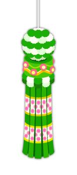 仙台七夕吹流し黄緑