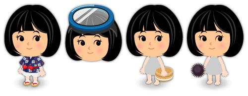 岩手の海女さん衣装・海女さんゴーグル・海女さん木桶・手持ちウニ
