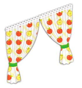 りんご柄カーテン