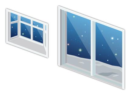 宇宙コロニーの掃出窓・宇宙コロニーの出窓