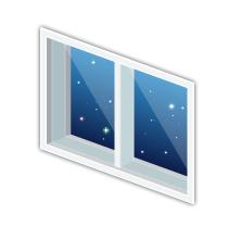 宇宙コロニーの窓小
