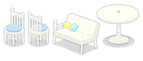 星空チェアヒヤシンス・星空チェアヒヤシンス背・星空ソファ・星空丸テーブル