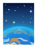 背景:青い地球